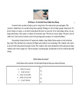 ESL Lesson: To-Do Lists