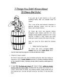 ESL Lesson for Hispanic Heritage Month | Reading Passage about El Chavo del Ocho