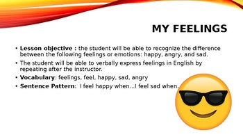 ESL Lesson ppoint on feelings