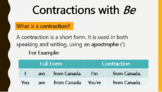 ESL Level 1 - Contractions, Vocab, A or An