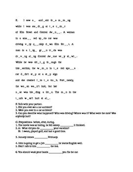 ESL Level 2 Lesson 22 Advanced Beginner Adult Child Classroom Past Continuous