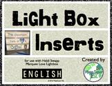 ESL Lightbox Inserts