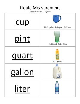 ESL Liquid Measurement Sort