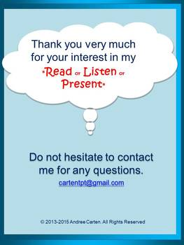 ESL / English / French / Spanish + All Subjects - Read or Listen or Present
