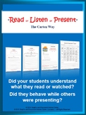 Reading, Listening, Presenting Strategies for All,including ESL, French, Spanish