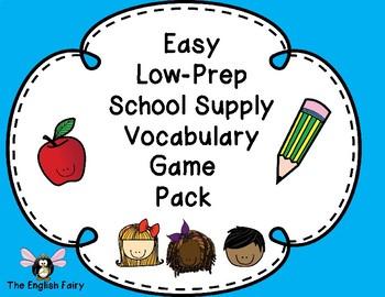 ESL Low Prep Games -School Supplies