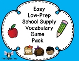 ESL Low Prep Games -School Supplies