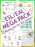ESL MEGA PACK - Worksheets, PowerPoints, flashcards, games, quizzes - 214+ PAGES
