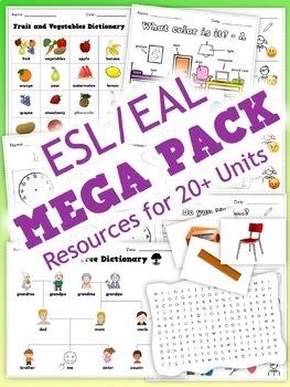 ESL MEGA PACK - Worksheets, PowerPoints, flashcards, games
