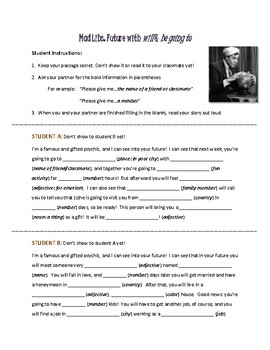 ESL Mad Libs: Fun with the future tense