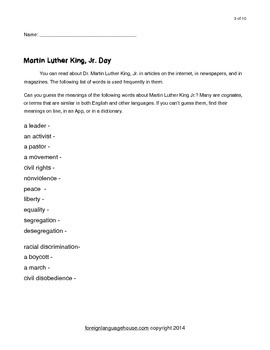 ESL Martin Luther King Collection