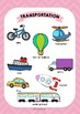 ESL Means of transport vocabulary posters for years 3 & 4