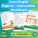 330 ESL Worksheets - Beginner - Intermediate Level