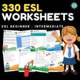 330 ESL Worksheets - Beginner - Intermediate Level
