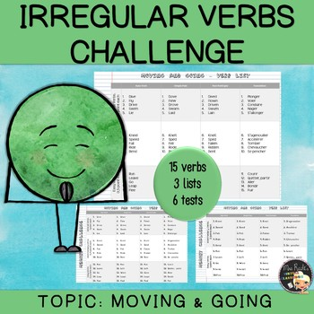 Irregular Verbs - Moving and going (set #4)