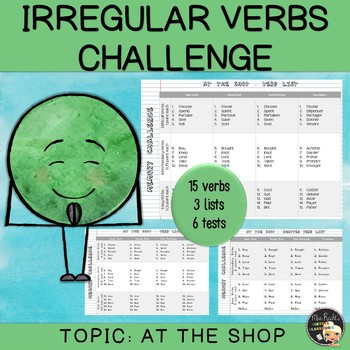 Irregular Verbs - At the shop (set #8)
