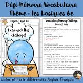 EFL Memory-Challenge - Basics