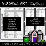 Vocabulary Word List House