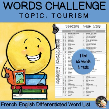 Vocabulary Word List Tourism