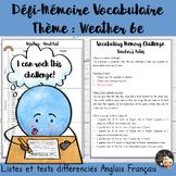 EFL Memory-Challenge - Weather