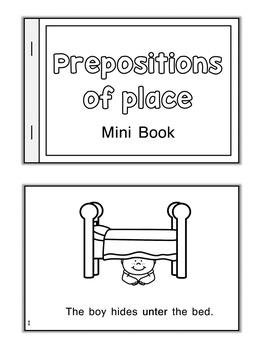 ESL  Mini Book  Prepositions