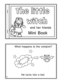 ESL Mini Book  The little witch and her friends