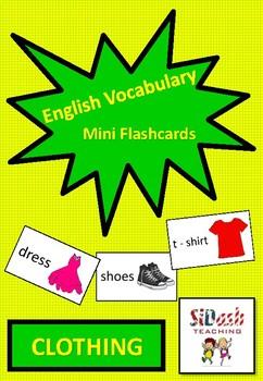 ESL Mini Flashcard Set (Clothing)