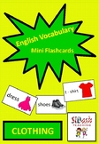ESL Mini Flashcard Set (Clothing)