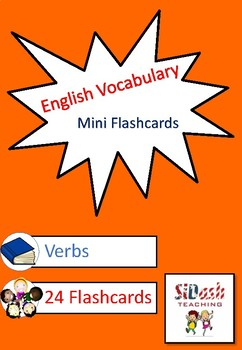 ESL Mini Flashcard Set (Verbs)