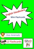 ESL Mini Flashcard Set (Zoo Animals)