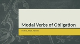 ESL: Modal Verbs of Obligation - must, should, have to