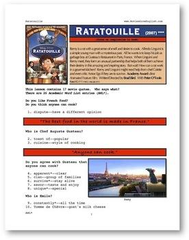 ESL Movie Lesson: Ratatouille
