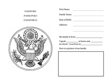 image about Printable Passports for Kids named Youngsters Pport Worksheets Schooling Materials Academics Pay back