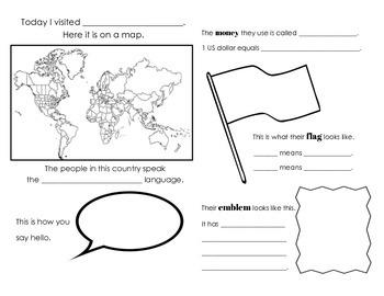 ESL Multicultural Around the World Kids Passport Project