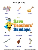 ESL Musical Instruments Worksheets, Games, Flash Cards and More (with audio) 1