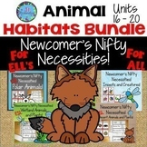 ESL Activities:  Animal Habitats Bundle:  ESL Vocabulary For Beginners