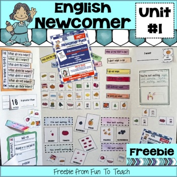 ESL NEWCOMER PACK Unit 1 the first week! Freebie