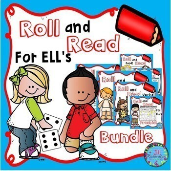 ESL Newcomer Roll and Read Bundle of Basic Vocabulary!  Fun ELL Games!