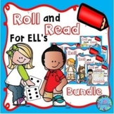 ESL Vocabulary Games:  Roll and Read Bundle of Basic Vocabulary!  Fun ELL Games!
