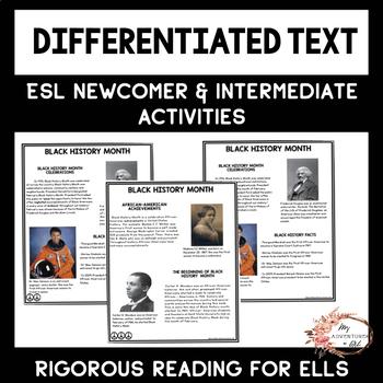 ESL Newcomer Activities: ESL Black History Month