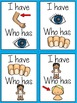Body Parts ESL  (I Have, Who Has ESL Game) ESL Vocabulary for Beginners