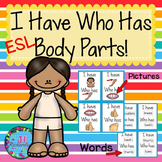 Body Parts ESL  (I Have, Who Has ESL Game) ESL Vocabulary for Beginners ELL
