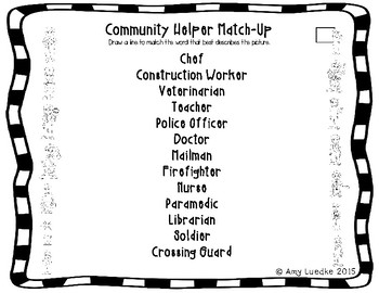 ESL Newcomer Community Helper Vocabulary Activities