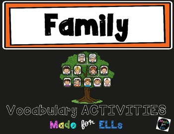 ESL Newcomer Family Vocabulary Activities