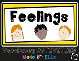 ESL Newcomer Feelings Vocabulary Activities