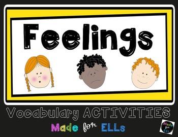 ESL Newcomer Feelings Vocabulary Activities