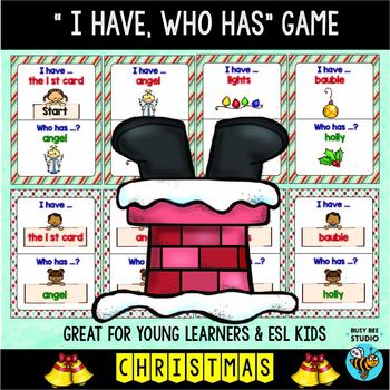 Christmas Words That Start With A.Vocabulary Games Christmas I Have Who Has