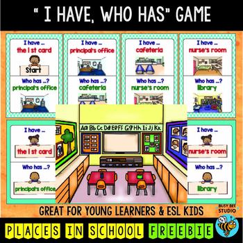 ESL Newcomer Game: Places in School FREEBIE