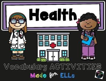 ESL Newcomer Health Vocabulary Activities