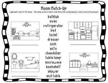 ESL Newcomer Home Vocabulary Activities